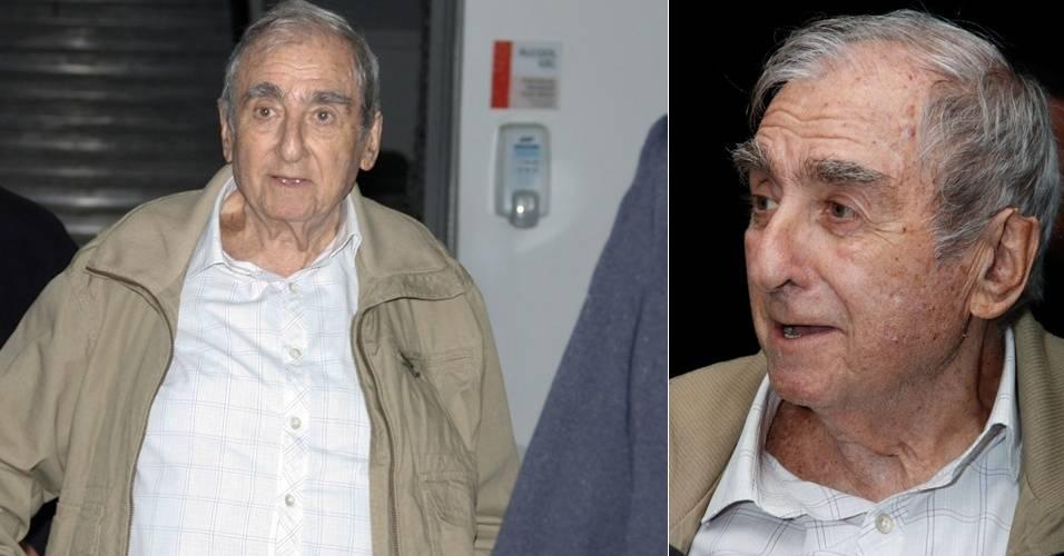 Ator Elias Gleizer visita Reynaldo Gianecchini em hospital, em São Paulo (14/8/11)