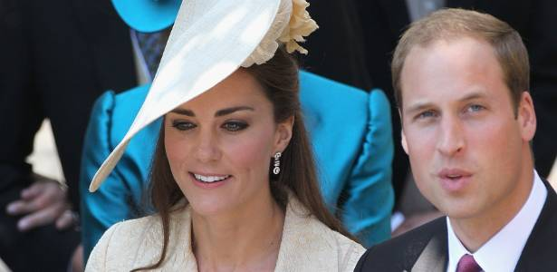 Kate Middleton e príncipe William no casamento de Mike Tindall e Zara Philip (30/7/11)
