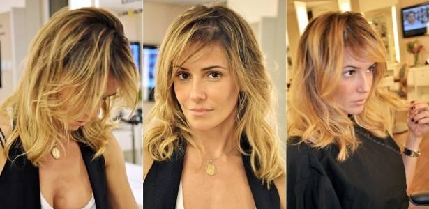 A atriz Deborah Secco exibe seu novo corte de cabelo