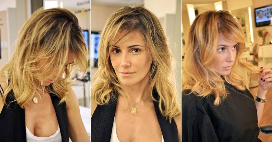 Deborah Secco mostra novo corte de cabelo (31/8/11)