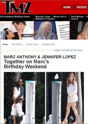 Mac Anthony recebe a visita da ex-mulher, Jennifer Lopez, em sua casa na Flórida (18/9/11)