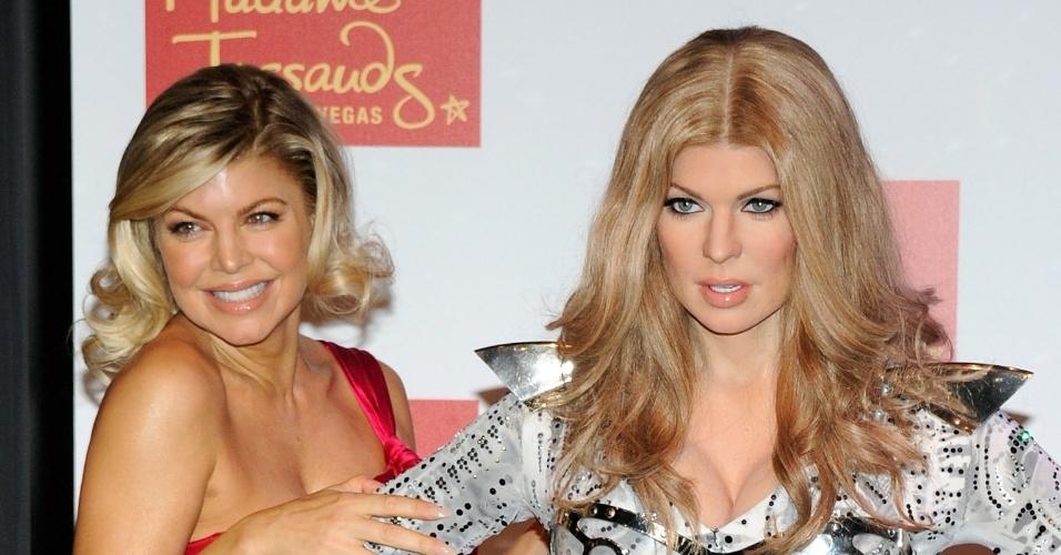 Cantora Fergie ganha estátua de cera no museu Madame Tussauds em Las Vegas (22/9/11)
