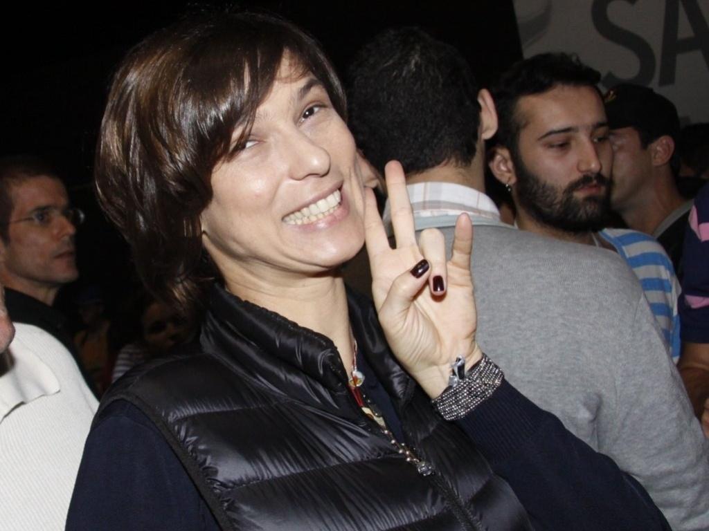 A humorista Maria Paula assiste a shows do Rock in Rio na área VIP (29/9/11