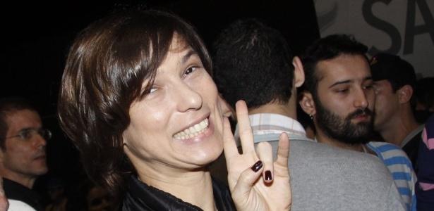 A humorista Maria Paula assiste a shows do Rock in Rio na área VIP (29/9/11)