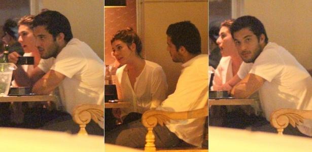 Fernanda Paes Leme e Gregor Gracie jantam no Rio (10/10/2011)