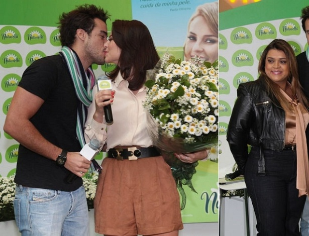 Joaquim Lopes, Paola Oliveira e Preta Gil participam de evento de uma marca de absorventes em São Paulo (20/10/2011)