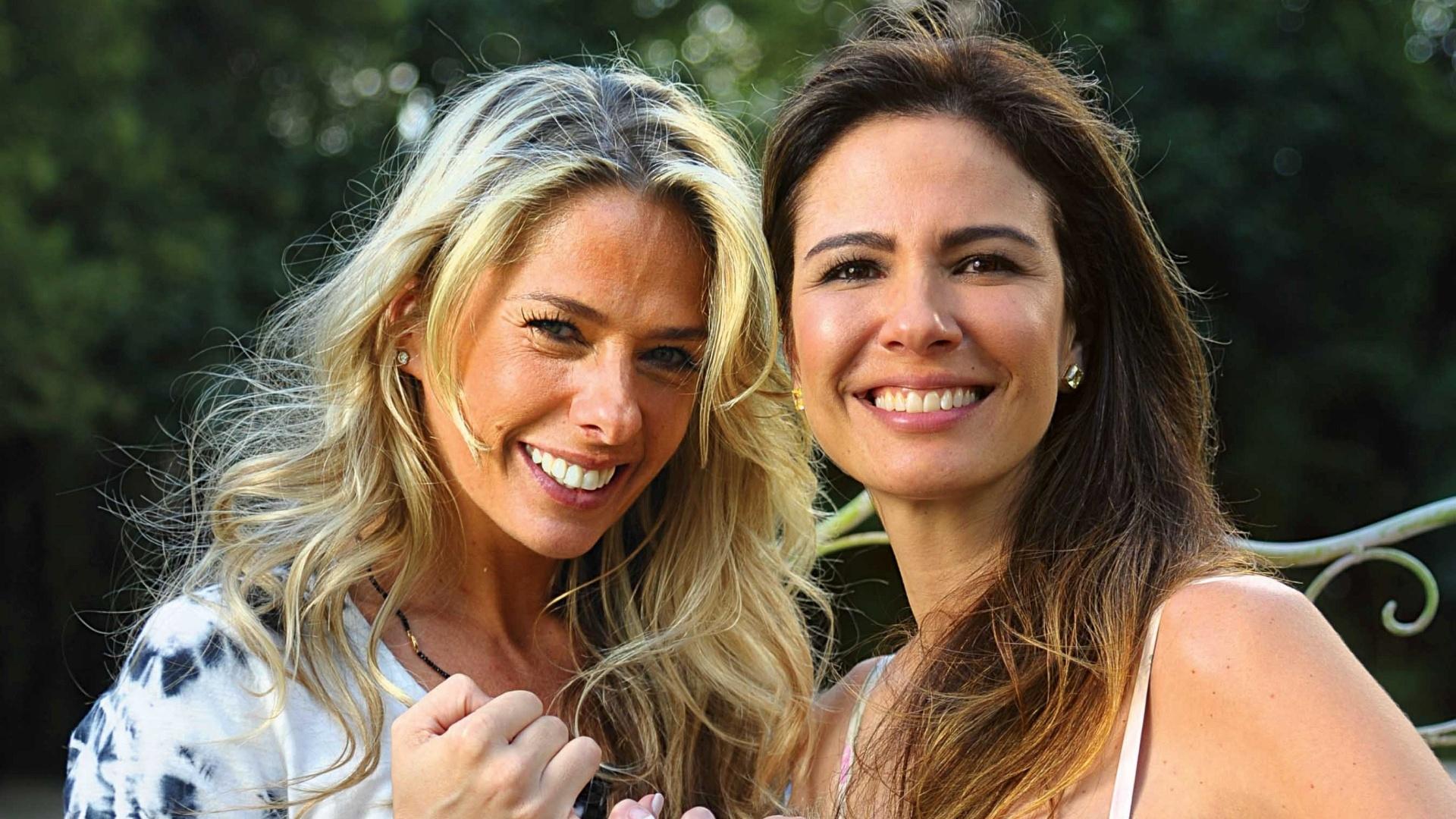Adriane Galisteu e Luciana Gimenez posam para a revista