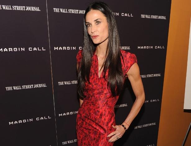 """Demi Moore na estreia de """"Margin Call - O Dia Antes do Fim"""" (17/10/2011)"""