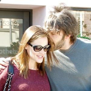 Ben Affleck e a mulher, Jennifer Garner, quando ela esperava o terceiro filho do ator (26/10/2011)