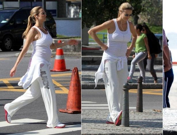 Luana Piovani exercita-se durante caminhada pelo Leblon, na zona sul do Rio (24/11/11)