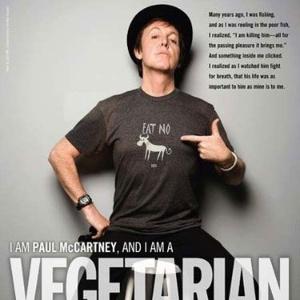 Paul McCartney em campanha da PETA