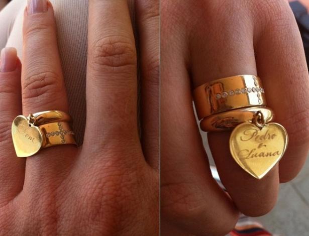 No Twitter, Luana Piovani posta foto de sua aliança de casamento (29/11/11)