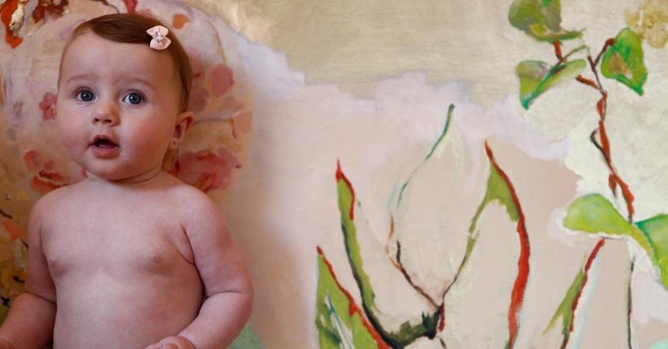 Ella Felipa, filha de Fábio Assunção, celebra sete meses (09/12/11)