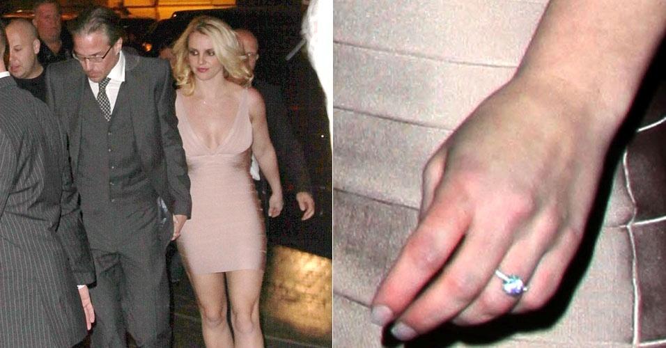 Britney Spears exibe anel de noivado e afirma que este é um momento mágico em sua vida (16/12/11)