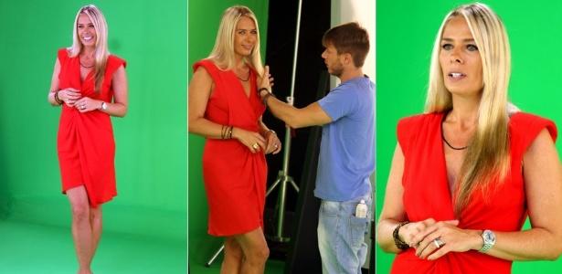Adriane Galisteu grava chamadas para seu novo programa (20/12/2011)