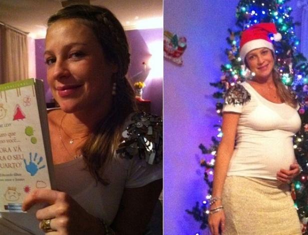 Grávida, Luana Piovani posta no Twitter imagens do seu Natal (25/12/2011)