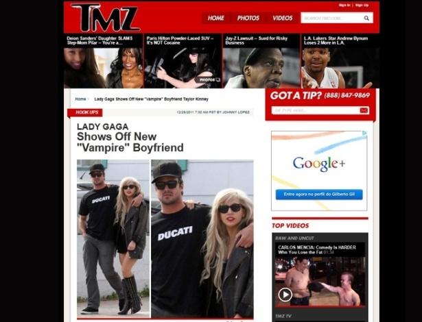 Lady Gaga e o novo namorado, Taylor Kinney (29/12/2011)