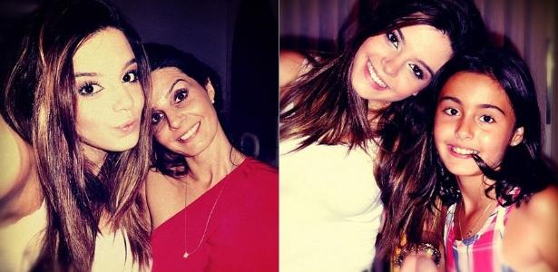 No Twitter, Giovanna Lancellotti posta foto ao lado da mãe e da irmã (5/1/2012)