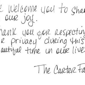 Bilhete de Jay-Z e Beyoncé agradece respeito à privacidade do casal em imagem do Tumblr