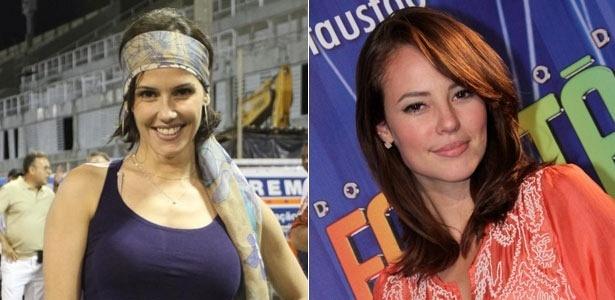 Da esquerda para a direita, as atrizes Deborah Secco e Paola Oliveira
