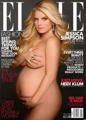 "Jessica Simpson em foto da ""Elle"" americana"