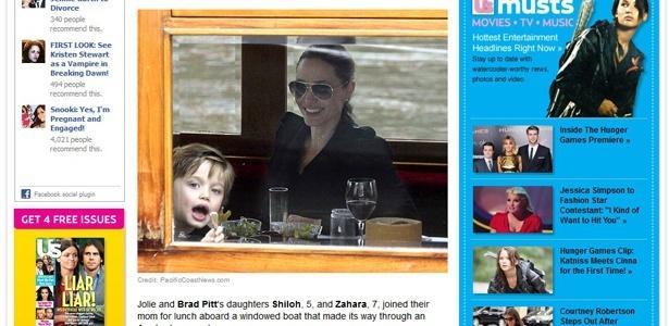 Shiloh e a mãe, Angelina Jolie, em Amsterdã (14/3/2012)