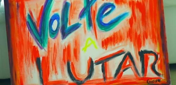Quadro pintado por Reynaldo Gianecchini no clipe