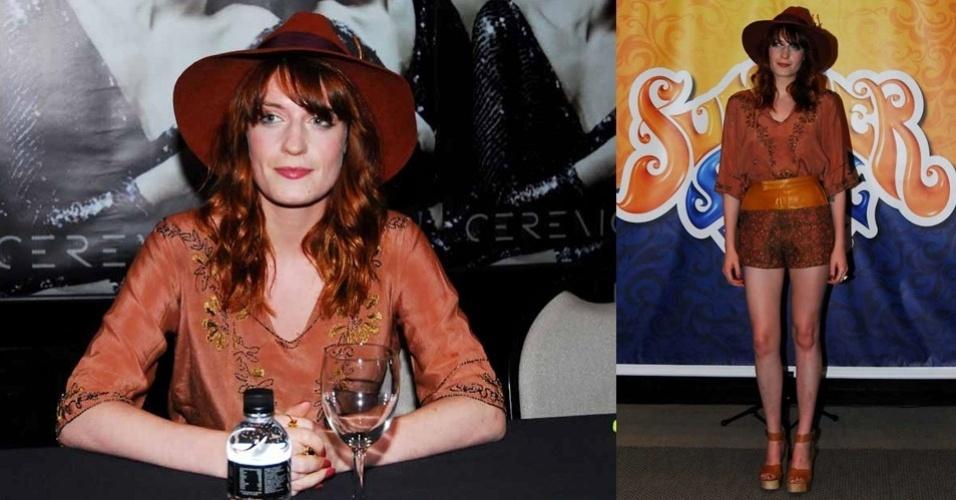 Coletiva de imprensa com Florence Welch