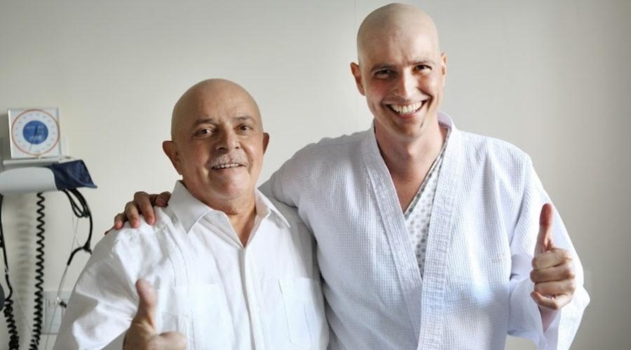 Reynaldo Gianecchini recebe visita de Lula no hospital (25/1/12)
