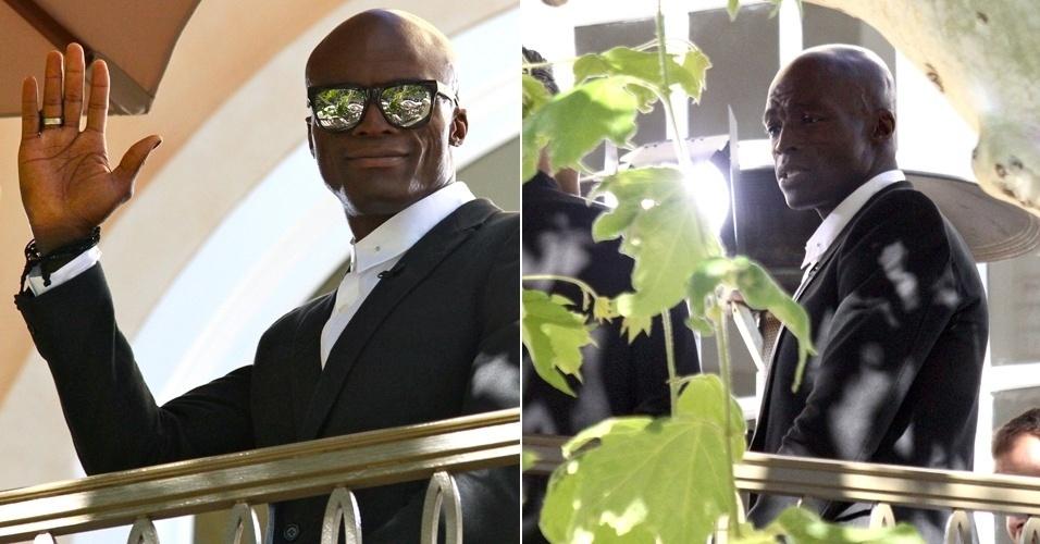 Após se separar da modelo Heidi Klum, Seal é visto em West Hollywood, na Califórnia. O cantor acenou para o paparazzi. Em uma entrevista, Seal afirmou que o relacionamento dele com Heidi ainda não acabou (25/1/12)
