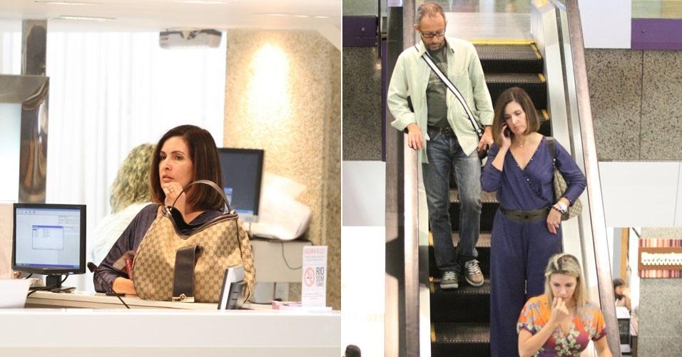 Fátima Bernardes aproveita a tarde de domingo para ir ao salão de beleza em shopping do Rio de Janeiro (29/1/12)