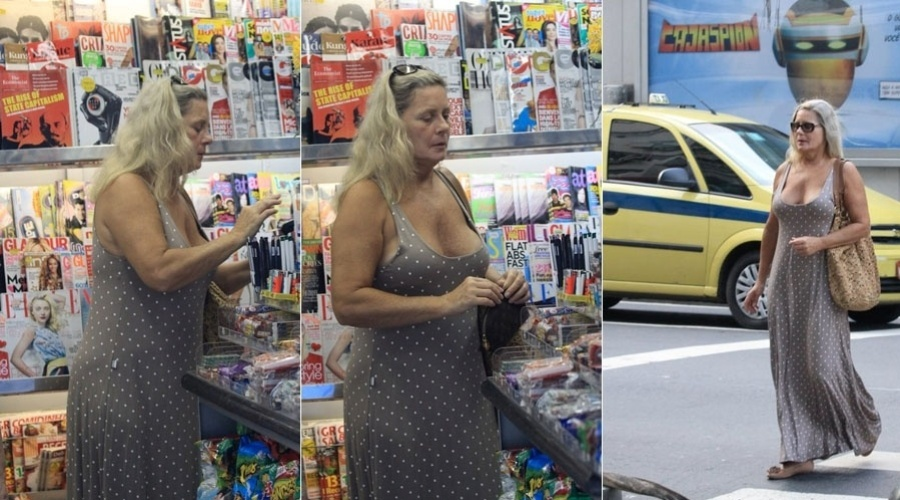 Vera Fischer passeia por rua do Leblon, zona sul do Rio (30/1/12)
