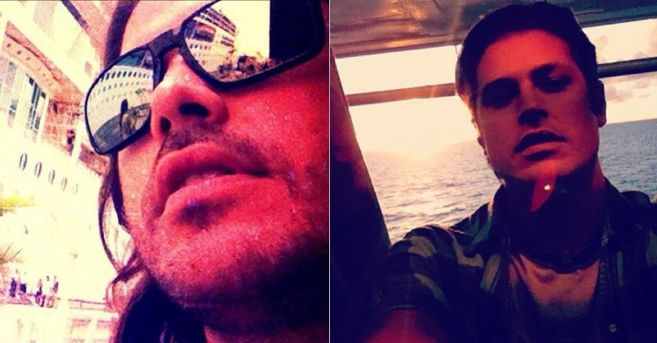 Dado Dolabella mostra foto de gravação da próxima novela da Record em um cruzeiro (6/2/12)