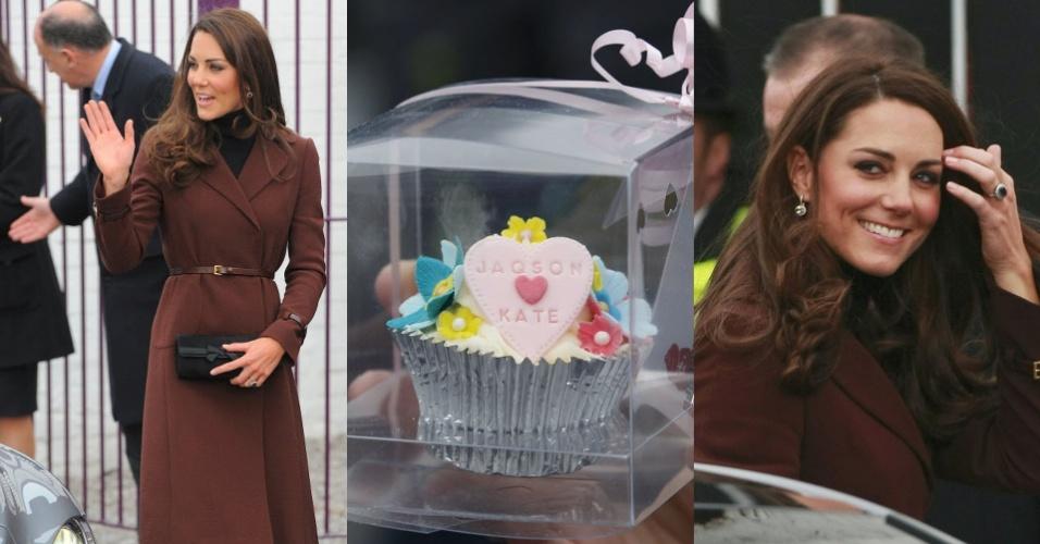 Kate Middleton, Duquesa de Cambrigde, visita o bar sem álcool Brink, mantido pela Action on Addiction, uma associação que ajuda pessoas com vício em álcool e drogas (14/2/12)