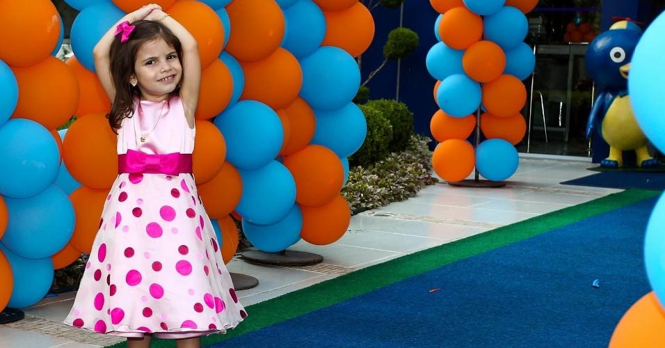 Maria Eduarda, a aniversariante, filha de Edu Guedes. O aniversário aconteceu em uma casa de festas em São Paulo (15/2/2012)