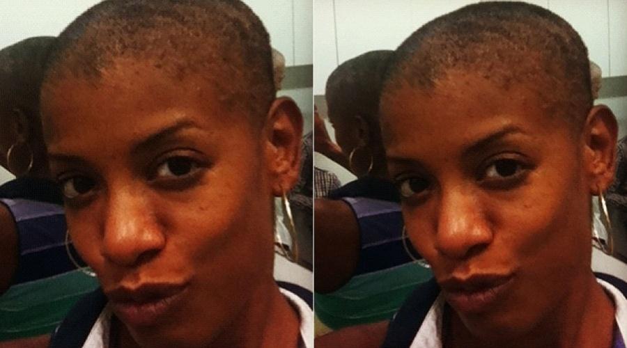 Thalma de Freitas raspa a cabeça para espetáculo teatral (17/2/2012)