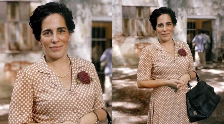 """Glória Pires caracterizada como a psiquiatra Nise da Silveira no filme """"Engenho de Dentro"""" (28/2/2012)"""