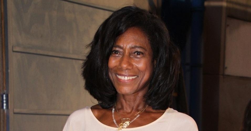 A apresentadora Glória Maria durante premiação no Rio de Janeiro (28/2/12)