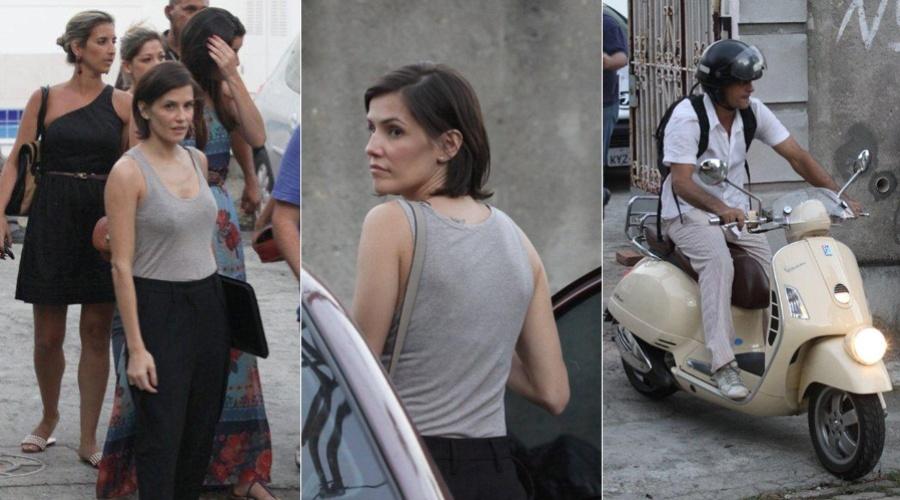 """Deborah Secco e Eduardo Moscovis gravam cenas de """"Louco por Elas"""" em Santa Teresa, centro do Rio (1/3/2012)"""