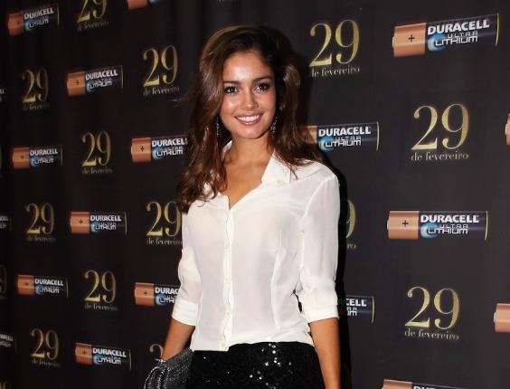 """Sophie Charlotte, a Amália de """"Fina Estampa"""", participou do evento em São Paulo e tocou para os convidados durante a festa (29/2/12)"""