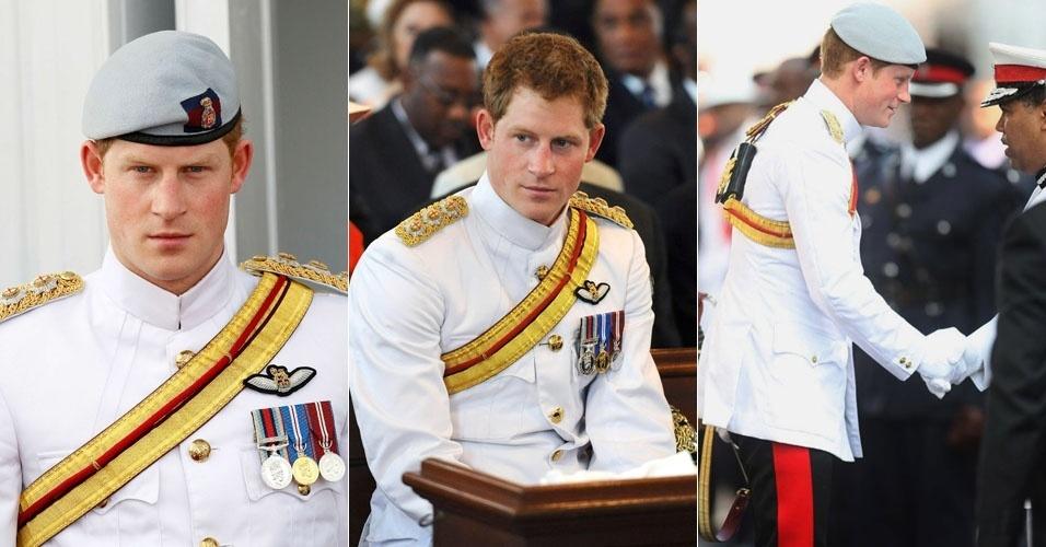 Príncipe Harry visita as Bahamas representando a família real britânica como parte das comemorações do jubileu de diamante da rainha Elizabeth II. Harry ainda vai visitar a Jamaica e o Brasil