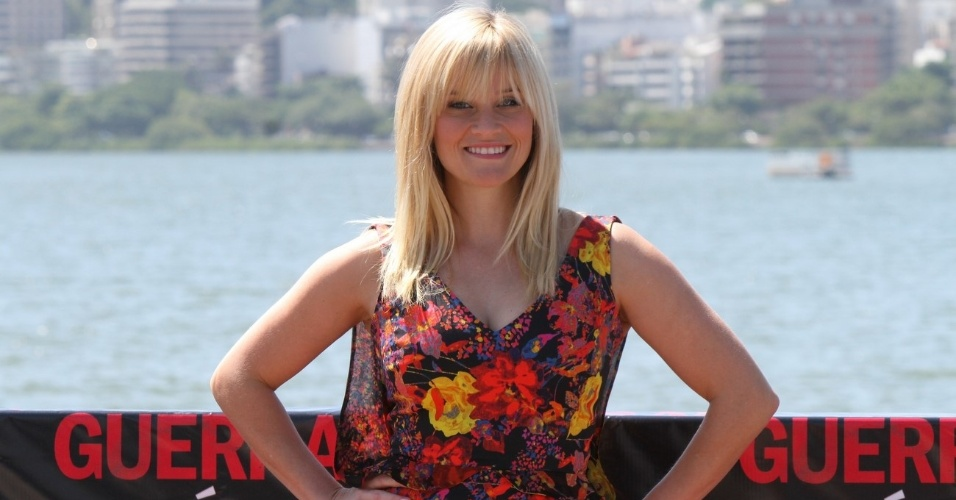 "Reese Whitherspoon posa para fotógrafos na apresentação do filme ""Guerra é Guerra""no Cinépolis Lagoon, no Leblon, Rio de Janeiro (9/3/12)"