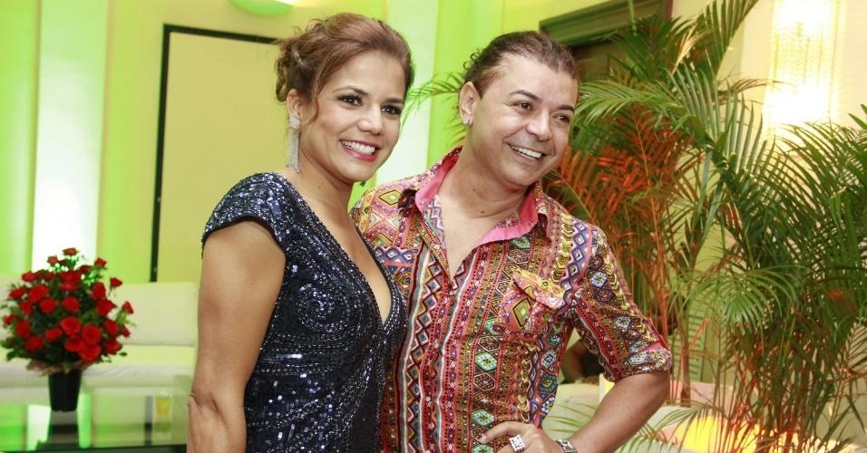Nívea Stelmann e o promoter David Brazilna festa de 30 anos da promoter Carol Sampaio, no Copacabana Palace, no Rio de Janeiro (15/3/12)