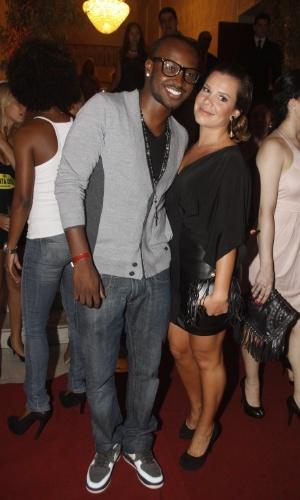 Thiaguinho e a namorada, Fernanda Souza, prestigiam a promoter Carol Sampaio em seu aniversário de 30 anos, no Hotel  Copacabana Palace, no Rio De Janeiro (15/3/12)