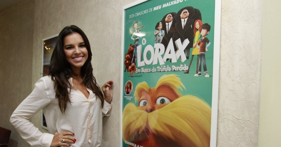"""Mariana Rios promove o filme """" O Lorax  - Em Busca da Trúfula Perdida"""", na sede do estúdio Paramount Brasil no centro do Rio (19/3/2012)"""