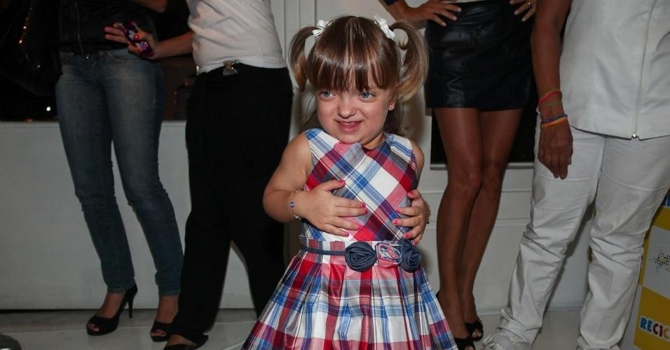 Rafaella Justus é filha da apresentadora Ticiane Pinheiro e do empresário Roberto Justus. A menina prestigiou o evento de uma marca infantil, em São Paulo (22/3/2012)