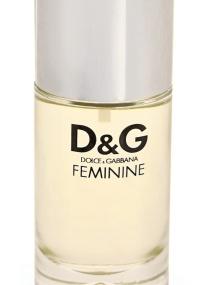 Frasco do perfume D&G Feminine
