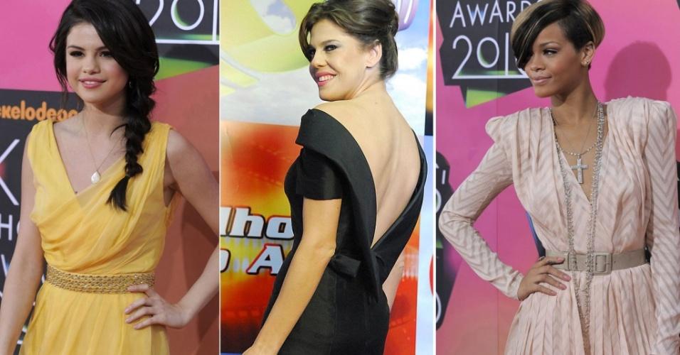 Mais bem vestidas da semana: Selena Gomez, Bárbara Paz e Rihanna entre 25 de março e 1 de abril de 2010