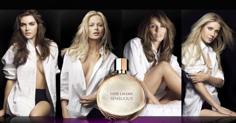 Hilary Rhoda, Carolyn Murphy, Elizabeth Hurley e Gwyneth Paltrow estrelam a campanha da nova fragância de Estée Lauder,