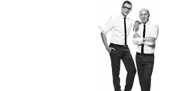 Os estilistas Stefano Gabbana e Domenico Dolce, criadores da marca italiana  - Mikael Jansson